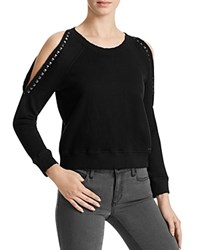 N Philanthropy Star Cutout Studded Sweatshirt Black