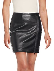 Romeo And Juliet Couture Zippered Mini Skirt Black