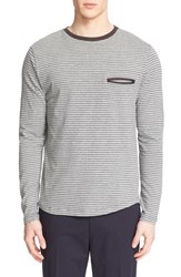 Men's Umit Benan Stripe Stretch Cotton Pullover