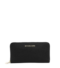 Michael Kors Jet Set Travel Saffiano Leather Wallet Black