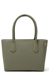 Dagne Dover Signature Classic Coated Canvas Tote Green Olive