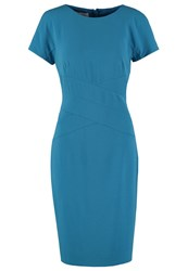 Hobbs Gigi Shift Dress Turquoise Blue