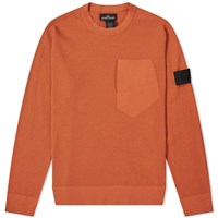 Stone Island Shadow Project Pure Cotton Crew Knit Red