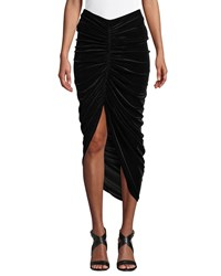 Bailey 44 Any Seven Velvet Ruched Tulip Skirt Black