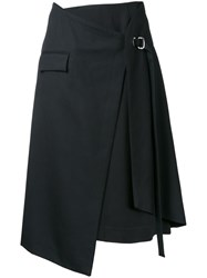 Taro Horiuchi Layered Wrap Skirt Black