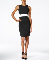 Bar Iii Sleeveless Colorblocked Sheath Dress Only At Macy's Black Combo