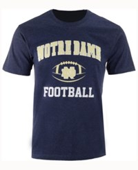Colosseum Men's Notre Dame Fighting Irish Football Arch Logo T Shirt Navy