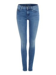 Calvin Klein Mid Rise Skinny Jean In Deep Sky Denim Light Wash
