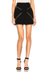 Alexander Wang Zipper Detail Mini Skirt In Black