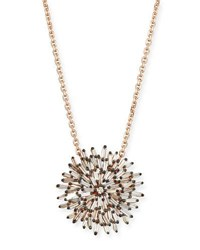 Suzanne Kalan 18K Rose Gold Diamond Baguette Sunburst Necklace