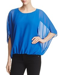 Vince Camuto Batwing Bubble Hem Blouse 100 Bloomingdale's Exclusive Core Blue