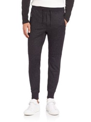 John Varvatos Chalk Stripe Sweatpants Black
