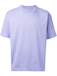 H Beauty And Youth Loose Fit T Shirt Men Cotton S Pink Purple