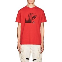 Alyx Graphic Cotton Blend T Shirt Red