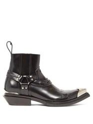 Balenciaga Santiago Western Leather Boots Black