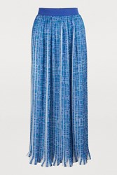 Maison Ullens Pleated Skirt Multicolor Blue