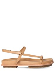 Mari Giudicelli 15Mm Leather Flat Sandals Camel