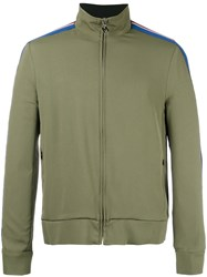 Msgm Zipped Sports Jacket Green