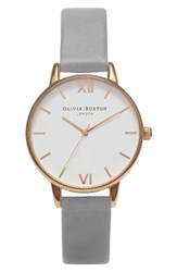 Olivia Burton Women's Midi Dial Leather Strap Watch 30Mm