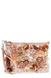 Chelsea 28 Chelsea28 Fleur Convertible Faux Leather Wristlet Pink Pink Hero