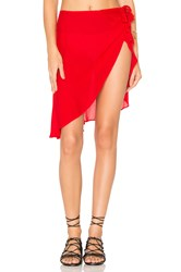For Love And Lemons Toledo Tie Sarong Red
