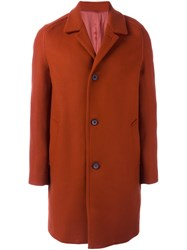 Wooyoungmi Buttoned Mid Length Coat Yellow Orange