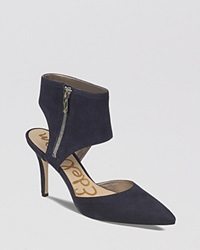 Sam Edelman Pointed Toe Pumps Zadia High Heel Inky Navy