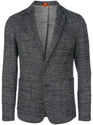 Barena Fitted Woven Suit Jacket Blue