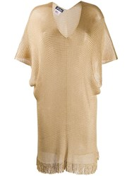Mc2 Saint Barth Draped Beach Cover Up Gold