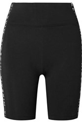 Nike Air Printed Stretch Cotton Blend Shorts Black