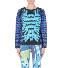 Adidas X Mary Katrantzou Perforated Graphic Print Sweatshirt Multco