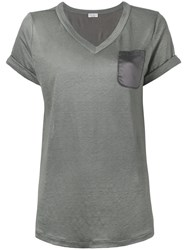 Brunello Cucinelli Loose Fit T Shirt Grey