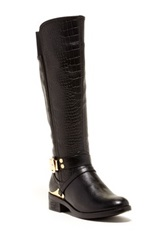 Godiva Amanda Textured Riding Boot Black
