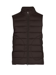 Herno Legend Quilted Down Gilet Brown