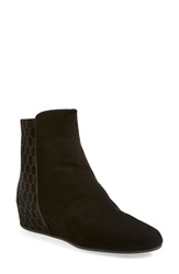 Aquatalia By Marvin K 'Ula' Weatherproof Hidden Wedge Bootie Women Black Suede