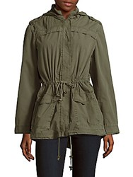 Bagatelle Long Sleeve Solid Anorak Olive