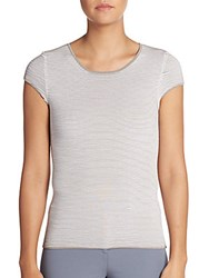 Peserico Textured Rib Knit Top Medium Grey