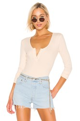 Bcbgeneration Henley Bodysuit Cream