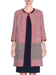 Giorgio Armani Woven Leather Cardigan Multi