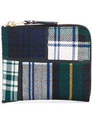 Comme Des Garcons Wallet Checked Zip Wallet Unisex Polyurethane Wool One Size Green