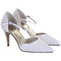 Rainbow Club Tierney Pointed Court Shoes Ivory