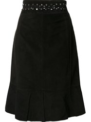 Proenza Schouler Studded Mid Length Skirt Black