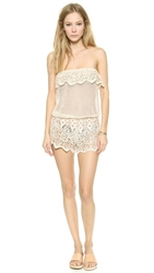Eberjey Sun Warrior Nina Cover Up Romper Natural
