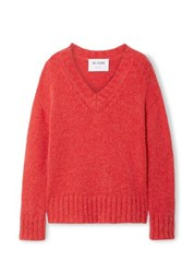Re Done 90S Oversized Knitted Sweater Red