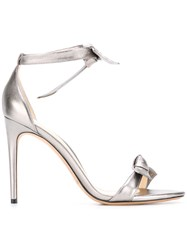 Alexandre Birman Metallic Grey Stiletto Sandals