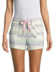 Roudelain Striped Drawstring Shorts White