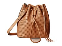 Rebecca Minkoff Star Perf Bucket Almond Cross Body Handbags Brown
