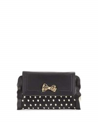 Betsey Johnson Flouncing Around Wallet On A String Black White
