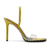 Alexander Wang Yellow Nova Crystal Heeled Sandals