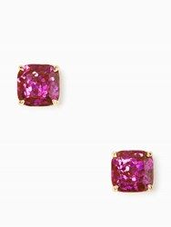 Kate Spade Small Square Studs Purple Multi Glitter
